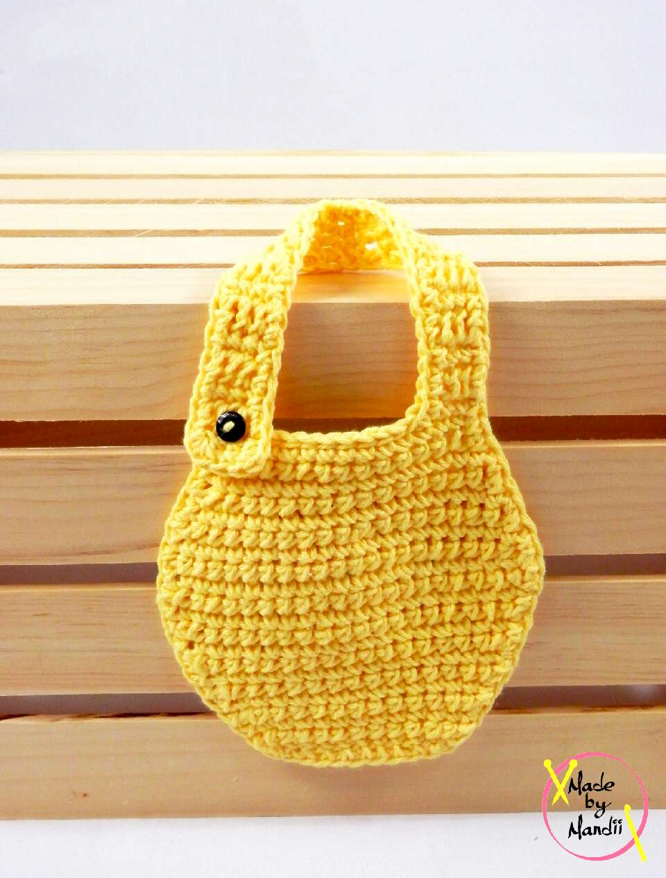 to cute for words cotton baby bib