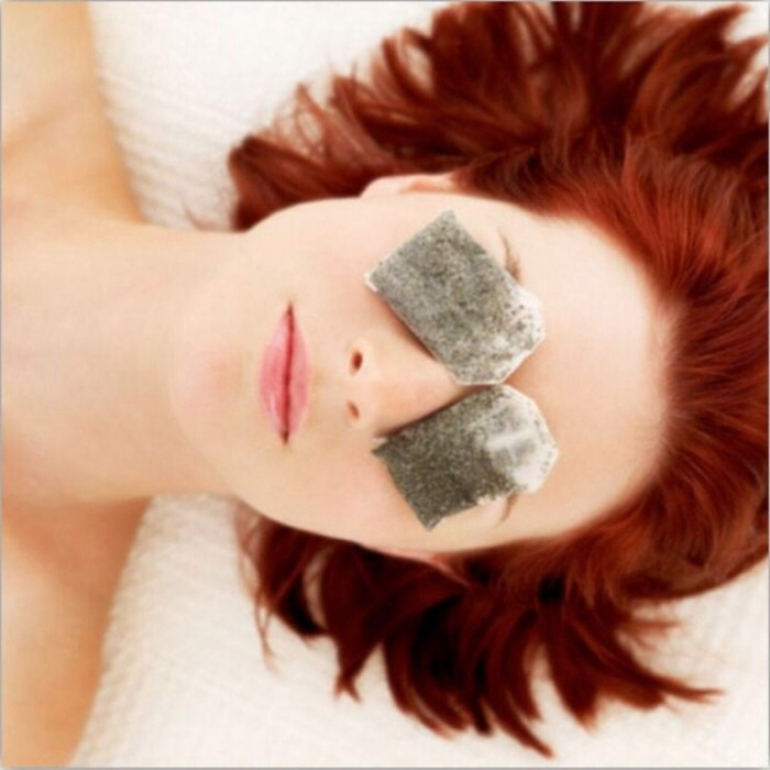 Eye Care Tip---Placing a cold black tea bag on each eye for approximately 10 minutes can help reduce eye puffiness.