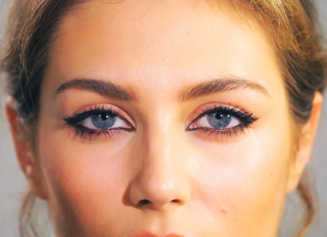 Line your inner rims with eyeliner for a nighttime look, remember darker colors make eyes look smaller. Also doing the inner corners may be hard but looks great.