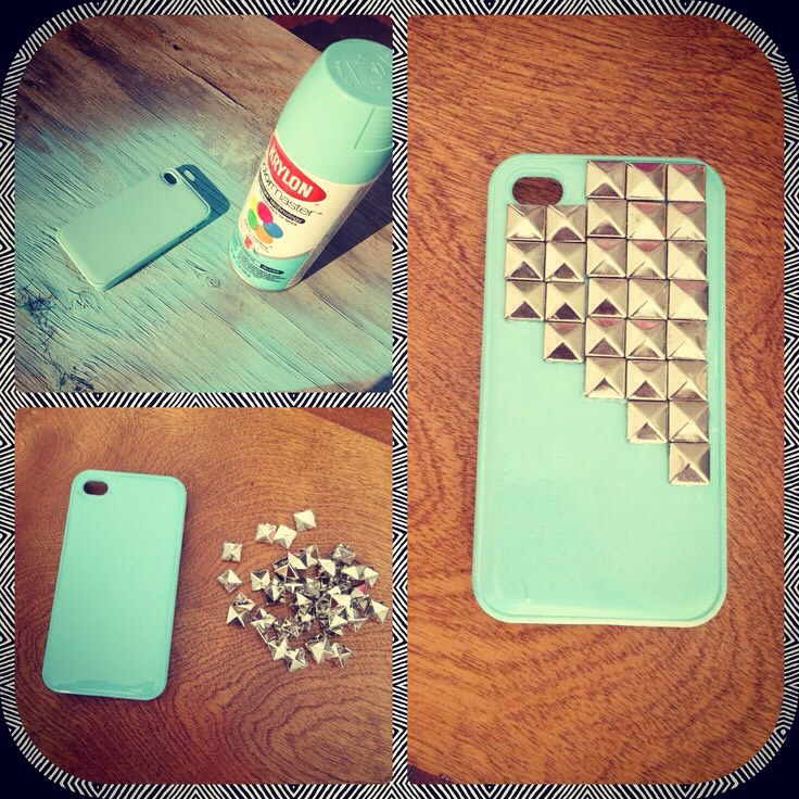 Use spray paint and studs!!
