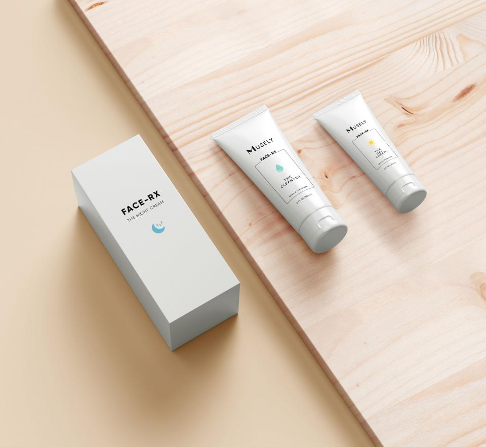 When it comes to choosing your anti-aging treatments, dermatologists recommend choosing tretinoin 100% of the time. Tretinoin is an active ingredient that can help turnover our skin cells and boost collagen production for smoother, tighter skin.   Here's the catch: the only way to get your hands on tretinoin is through a prescription, meaning you'll have to go through a dermatologist to get it. That is simply not an accessible option for everyone. You shouldn't have to jump through hoops just to treat your skin the way it deserves.   Face-Rx makes a tretinoin prescription easily accessible With Face-Rx, that process is simplified for you. Face-Rx eliminates the doctor visits and pharmacy lines—patients just need to complete an online digital assessment about their skin history, and then a doctor will review their information to see if they are eligible to receive our prescription anti-aging treatment. If they are, Face-Rx will be delivered straight to their doorstep. No hassle necessary.  Face-Rx adds ingredients to complement tretinoin But accessibility to tretinoin isn't the only downside Face-Rx makes up for. Because tretinoin is working hard to to reveal your new skin, the effect of increased skin cell turnover can be irritation and flaking. Formulated by board-certified dermatologists and lead cosmetic chemists, Face-Rx enhances tretinoin alone by adding soothing and hydrating ingredients like niacinamide and hyaluronic acid. These added ingredients ease the side effects of tretinoin as well as making the skin softer, smoother, and more radiant. You won't get that with just tretinoin alone.  The Face-Rx system completes your skincare routine The full Face-Rx treatment comes with complementary products that work together to combat any side effects you might experience using tretinoin alone:  • The Night Cream with tretinoin, hyaluronic acid, and niacinimade • The Day Cream with SPF keeps your skin plump, hydrated, and protected • Cleanser that gently cleans out 