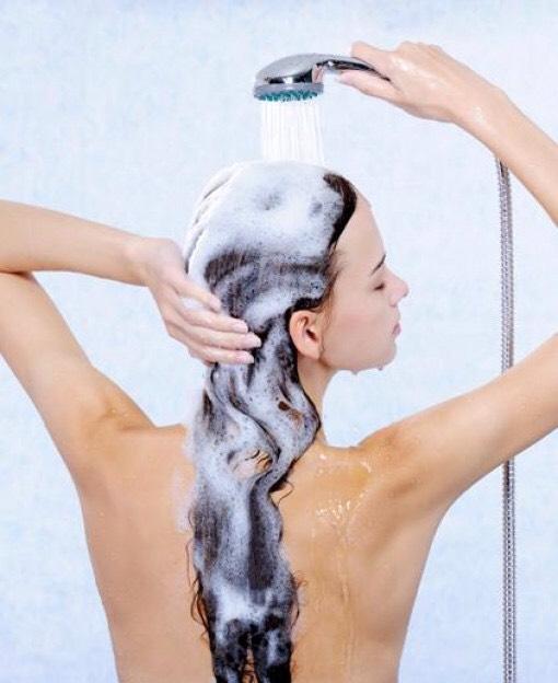 Leave it on for 2 minutes. Then rinse off slowly with warm/hot water, as your shampoo slowly runs down your hair it will clean and condition it. This saves time and shampoo.