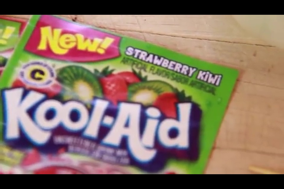 You pick the flavor by what color the kool aid is