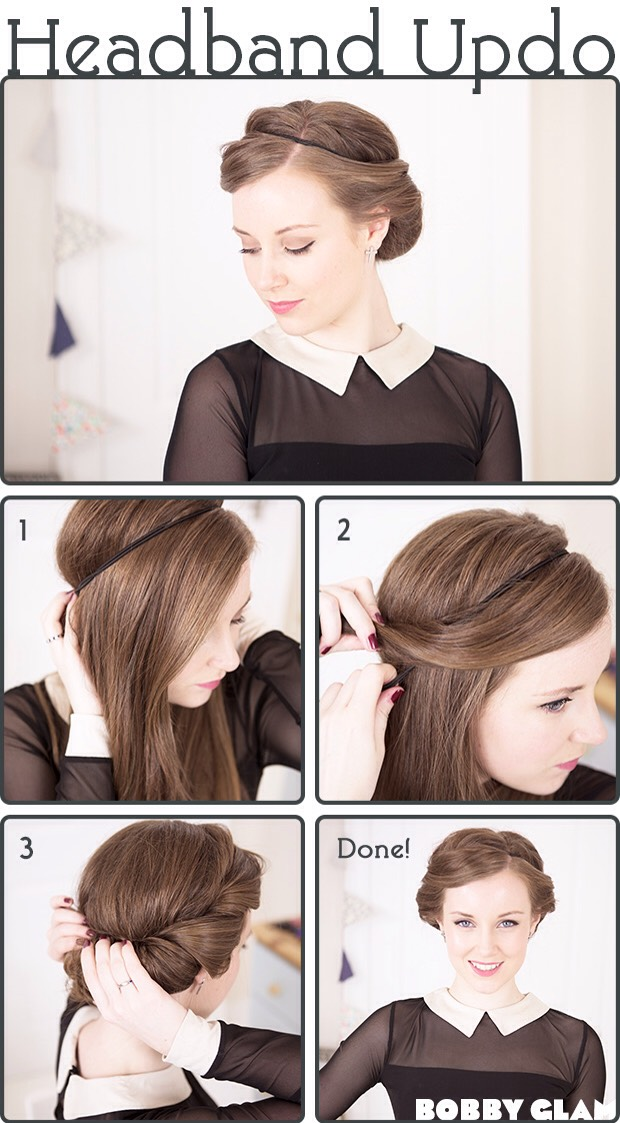 This is a great way to curl hair, do this with damp hair and sleep in it (or leave until dry.)