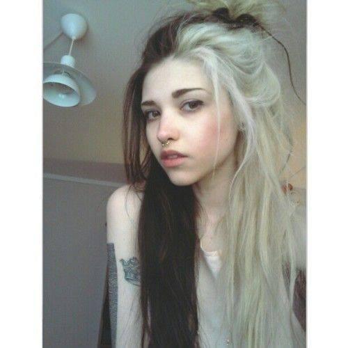 Half Black Half Blonde Hairstyles By Georgette Musely
