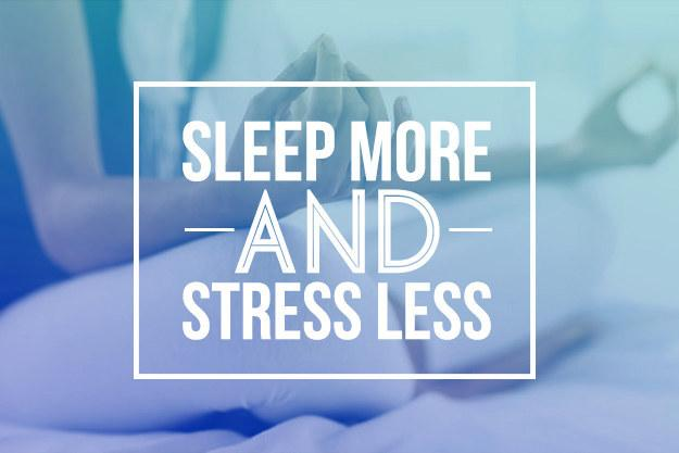 Day 6: Focus on better sleep and less stress.