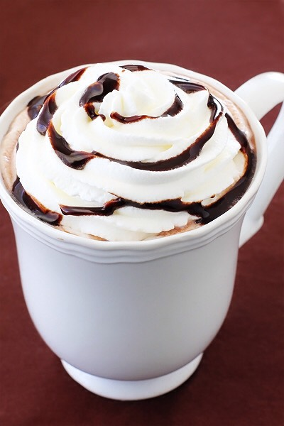 1.) you pour milk/cream in your cup. 2.)you put it the microwave for 1-2min 3.) take it out and put Nutella and mix it  4.)put your cup in the microwave again  5.)mix it again 6.)put wip cream on top and Hershey syrup in top 7.)enjoy