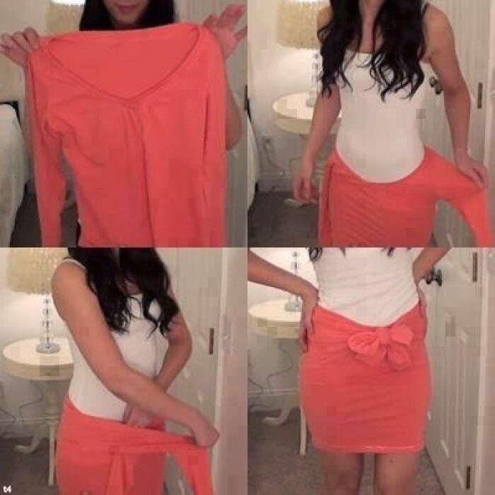 We all have this shirt that we don't use , now I know how use it and this is so beautiful . 👗💕