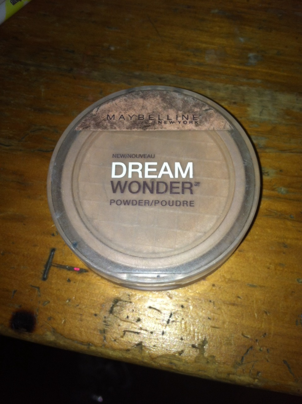 Next you will need a powder foundation. I prefer this one. This cost around $11. So next you take your makeup brush and spread the powder foundation around your face evenly also. Also if you put the liquid foundation on your jawline make sure to brush some of the powder over it too.
