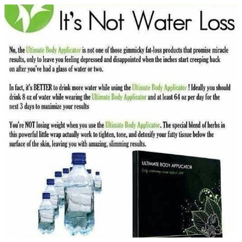 It's not water loss. The more you drink theirs you shrink!!