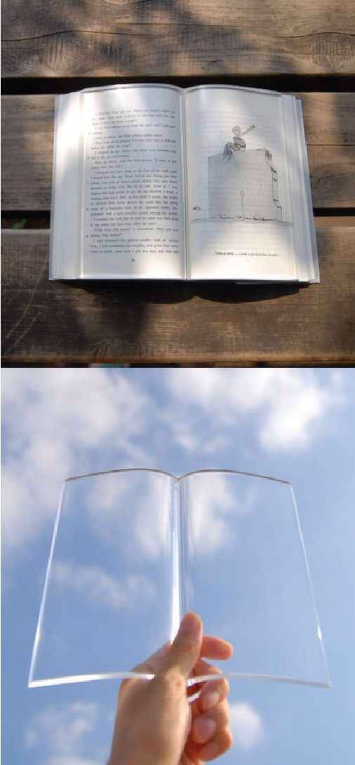 3. Transparent Book Weight
