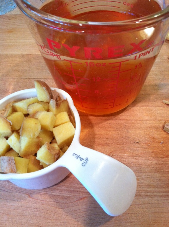 1. Measure the honey in a 2-cup Pyrex cup and add water to make 2 cups.