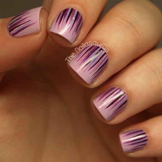 --> The waterfall manicure: