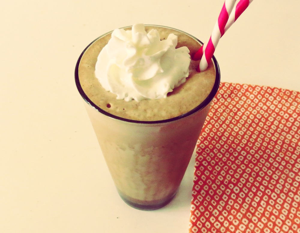Ingredients  1 cup milk  1/2 cup chocolate chips 3 tbs of Chocolate syrup  2 tbs sugar  2 cups of ice   Blend well. Enjoy!