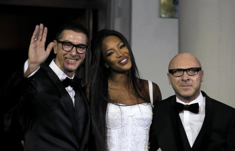Domenico Dolce (R) and Stefano Gabbana