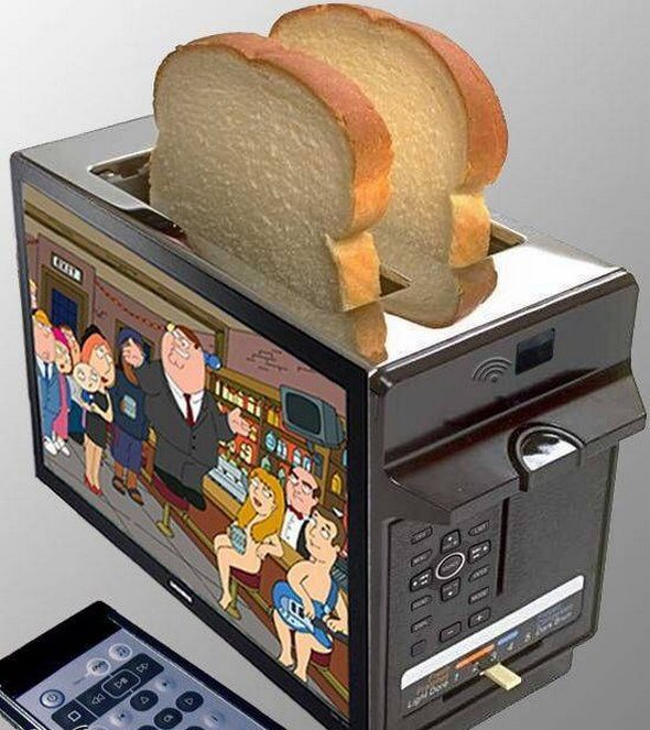 A toaster tv