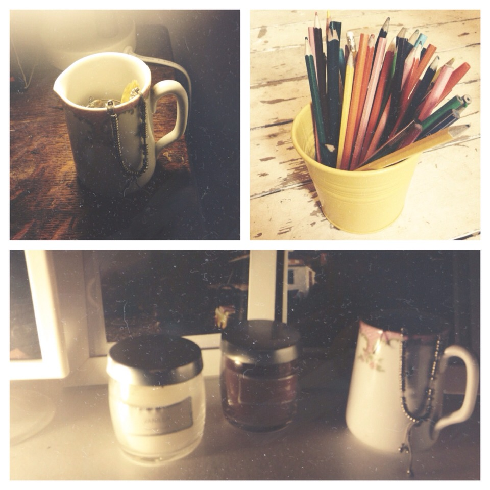 Plant pots, china cups, small watering cans and especially tea pots!!