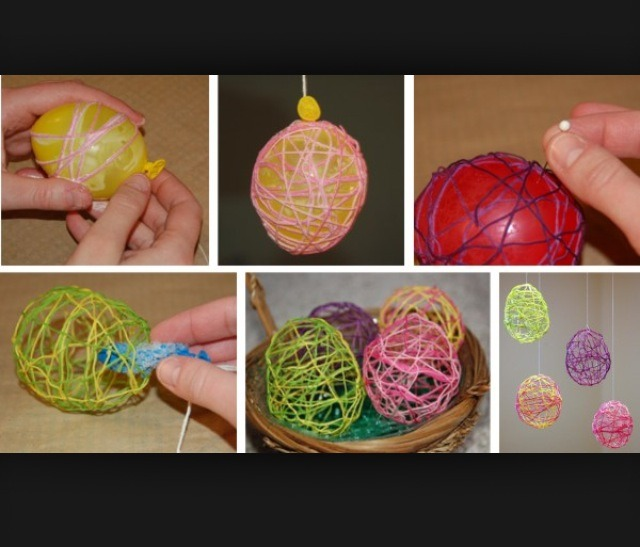 So simple! All you need is balloons, glue and yarn! Fun to make with kids :)