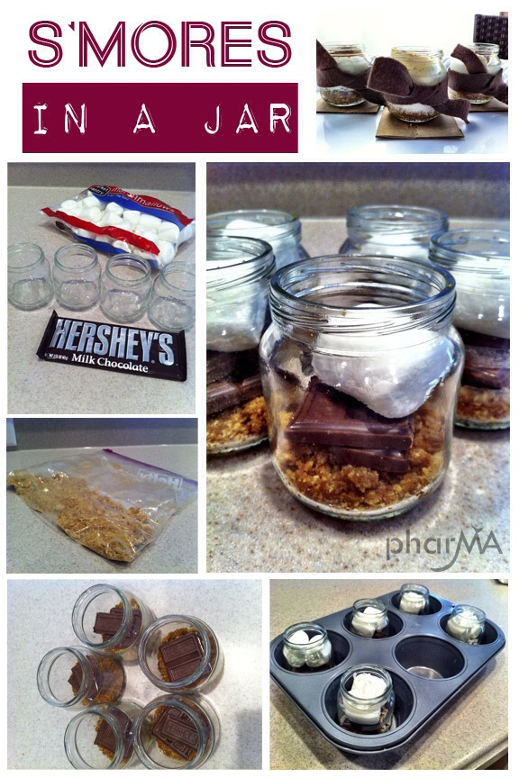 Smores in a jar!.. Tap pic for full view