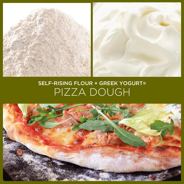 7. Self-Rising Flour + Greek Yogurt = Pizza Dough