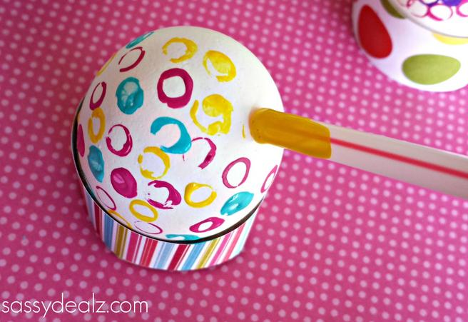 A different style for egg decorating, you could even dip-dye them or glue things like glitter on :)