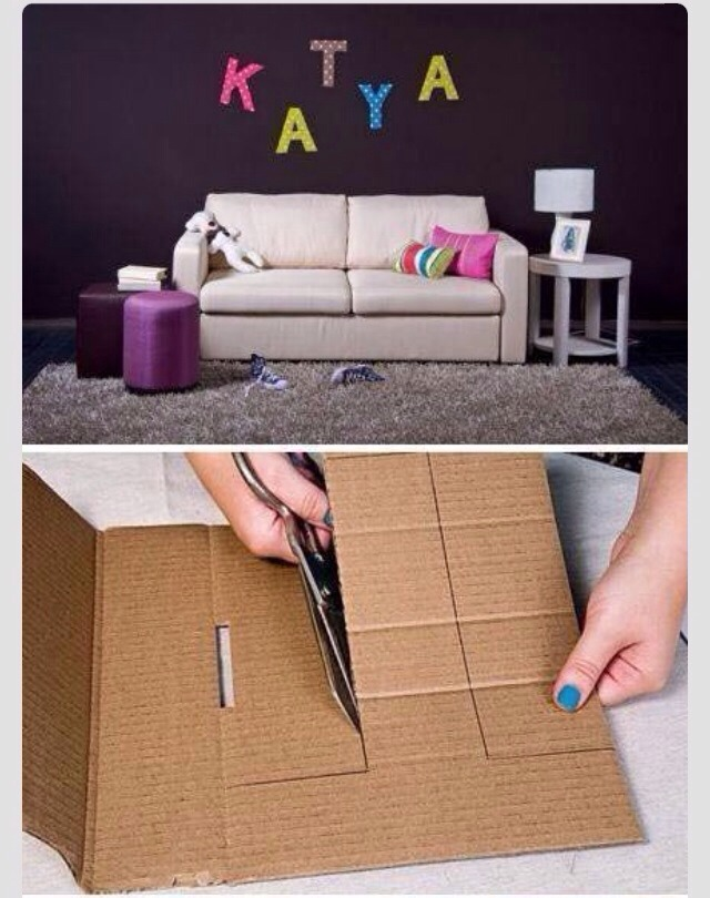 fabric and cardboard wall letters diy craft projects diy project fabric and cardboard wall letters musely 715