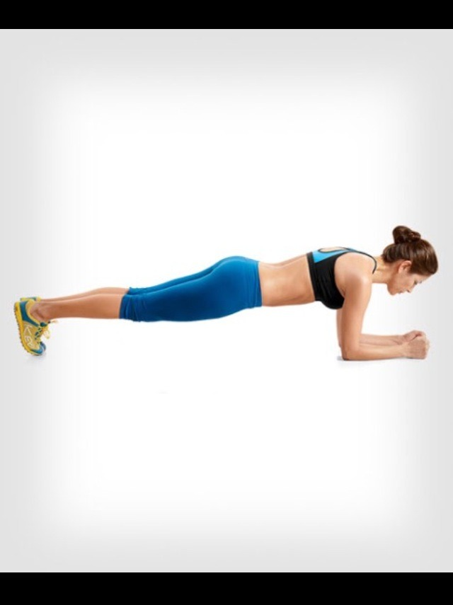 Continue the same steps for regular planks, make sure your body is even.