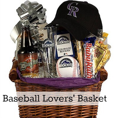 Baseball lovers basket