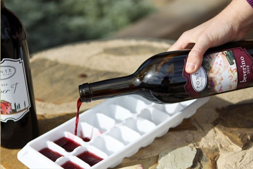 Use up the last bit of your wine to make ice cubes this will keep your wine nice and cold in the hot summer