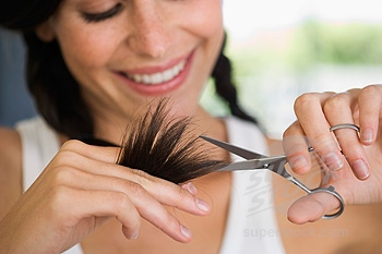 trim your split ends often so your hair can grow