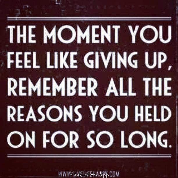 Oftentimes we tend to give up too easily, so we really need to stay strong, so that we can be healthy... Like, Share, Comment.