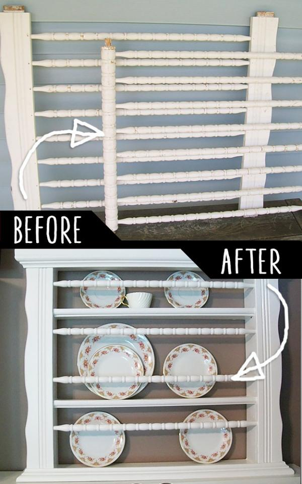 Old Crib To Plate Holder  http://somedaycrafts.blogspot.com/2010/05/guest-blogger-my-repurposed-life-crib.html