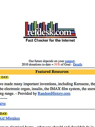 Refdesk is great for checking facts.