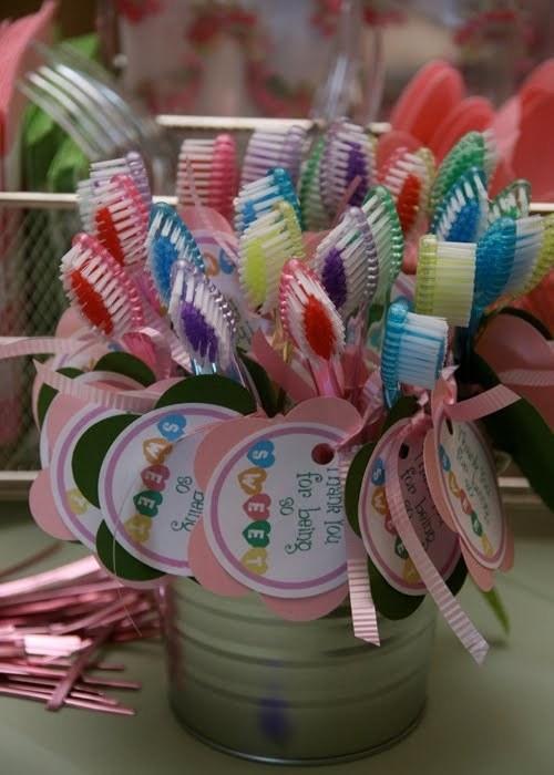 31. Bonus points if you send guests home with toothbrushes, too — because after all those sweets they're going to need them!