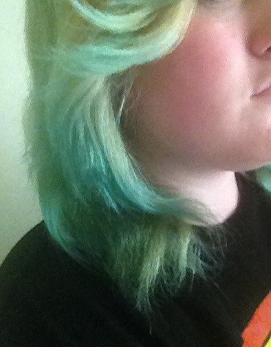 And light blue!  Excuse the morning hair... I did the blue last night!
