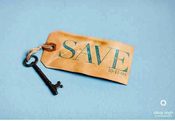 34. Vintage Key + Luggage Tag  You could easily achieve a similar effect with tea-staining.