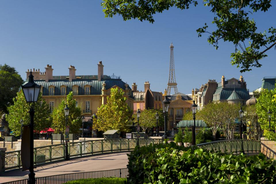 Walk Along the Seine: From Disney's BoardWalk, cross the bridge toward Epcot, where your ordinary walk along a canal becomes a journey along the Seine as the Eiffel Tower suddenly appears in the distance. Get a sneak peek of the World Showcase before walking back.