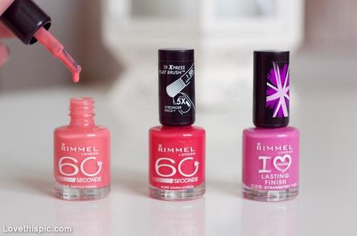Rimmel London 60 seconds Nail Polishes