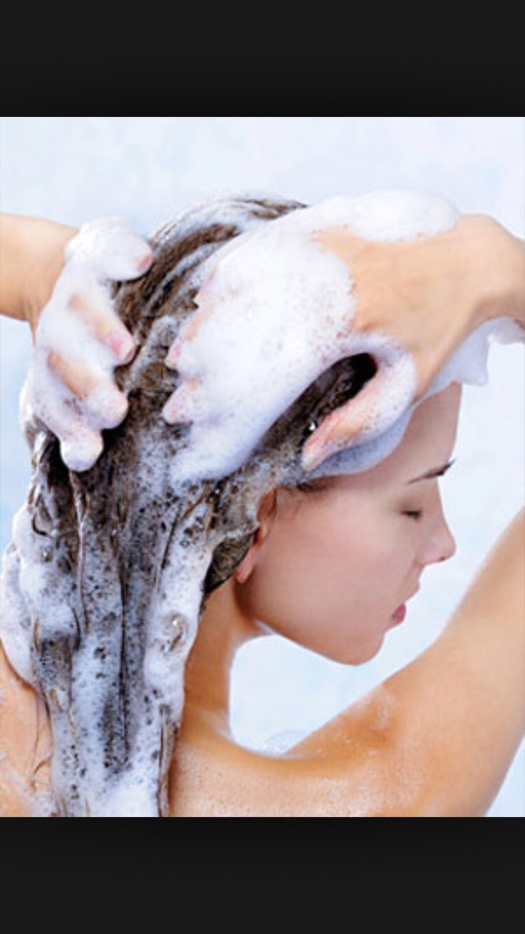 Shampoo hair three times to make sure you get all of it out