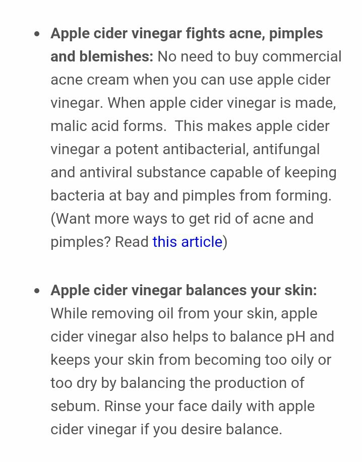 5 Reasons To Wash Your Face With Apple Cider Vinegar 😱👍 by