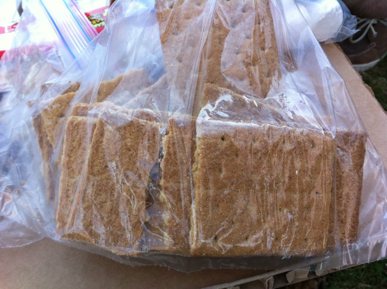Graham Crackers! I went to bulk barn and purchased a whole bag of them, so good!