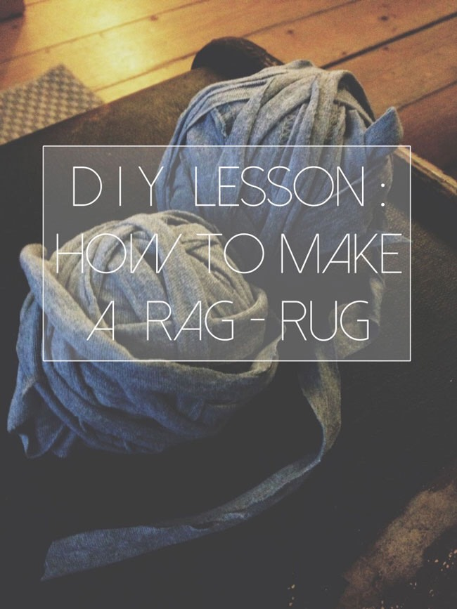 15. Tshirt rag rug tutorial