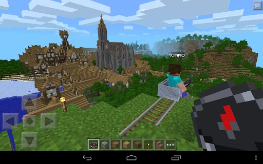 You can edit your name and skin in settings. And you can try to make a house or maybe a castle like this.