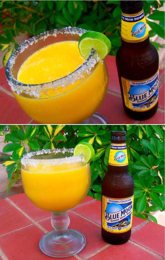 the moon-a-rita. It's a mango margarita with a Blue Moon beer.🍻🍺