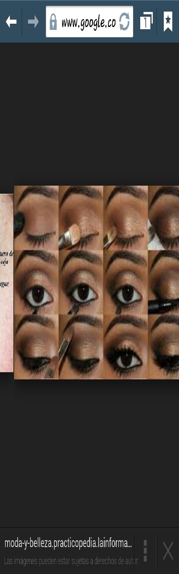 makeup: dark skin