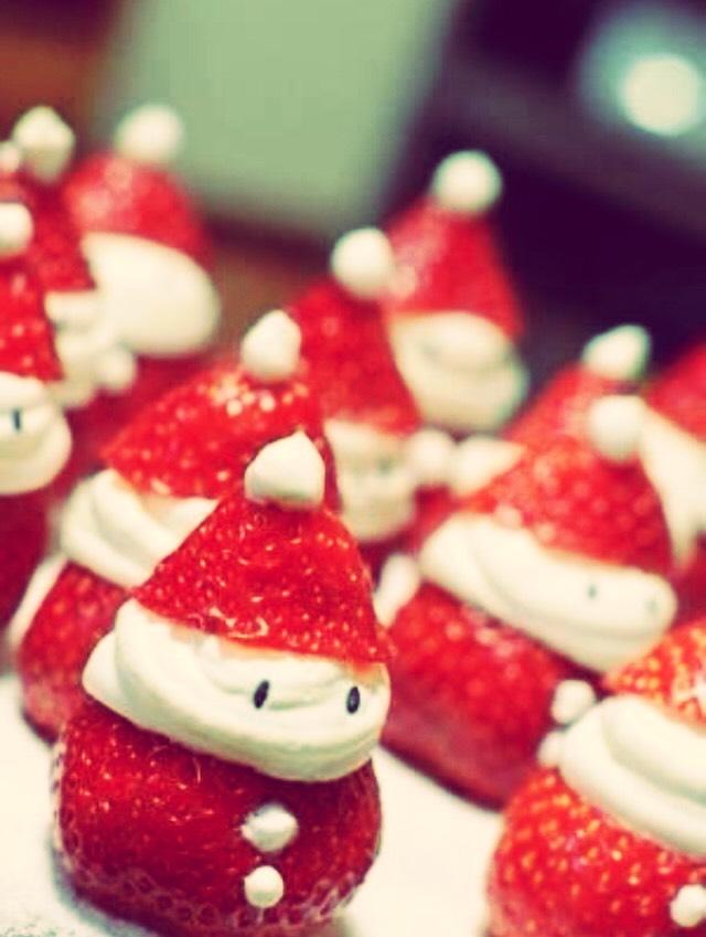 Snowman strawberries!