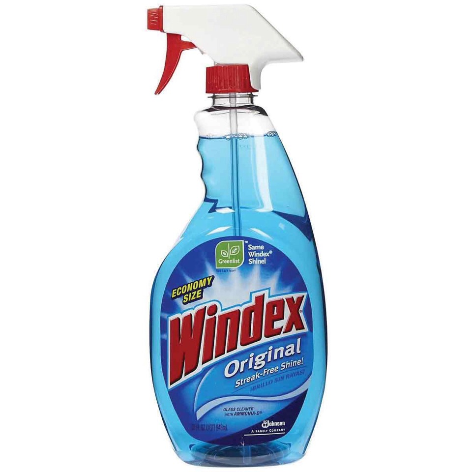 Use windex to remove carpet stains