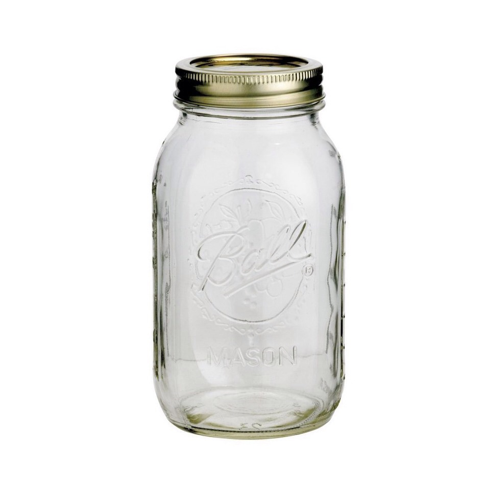 Fill a clean jar about one-thirds full with baking soda.