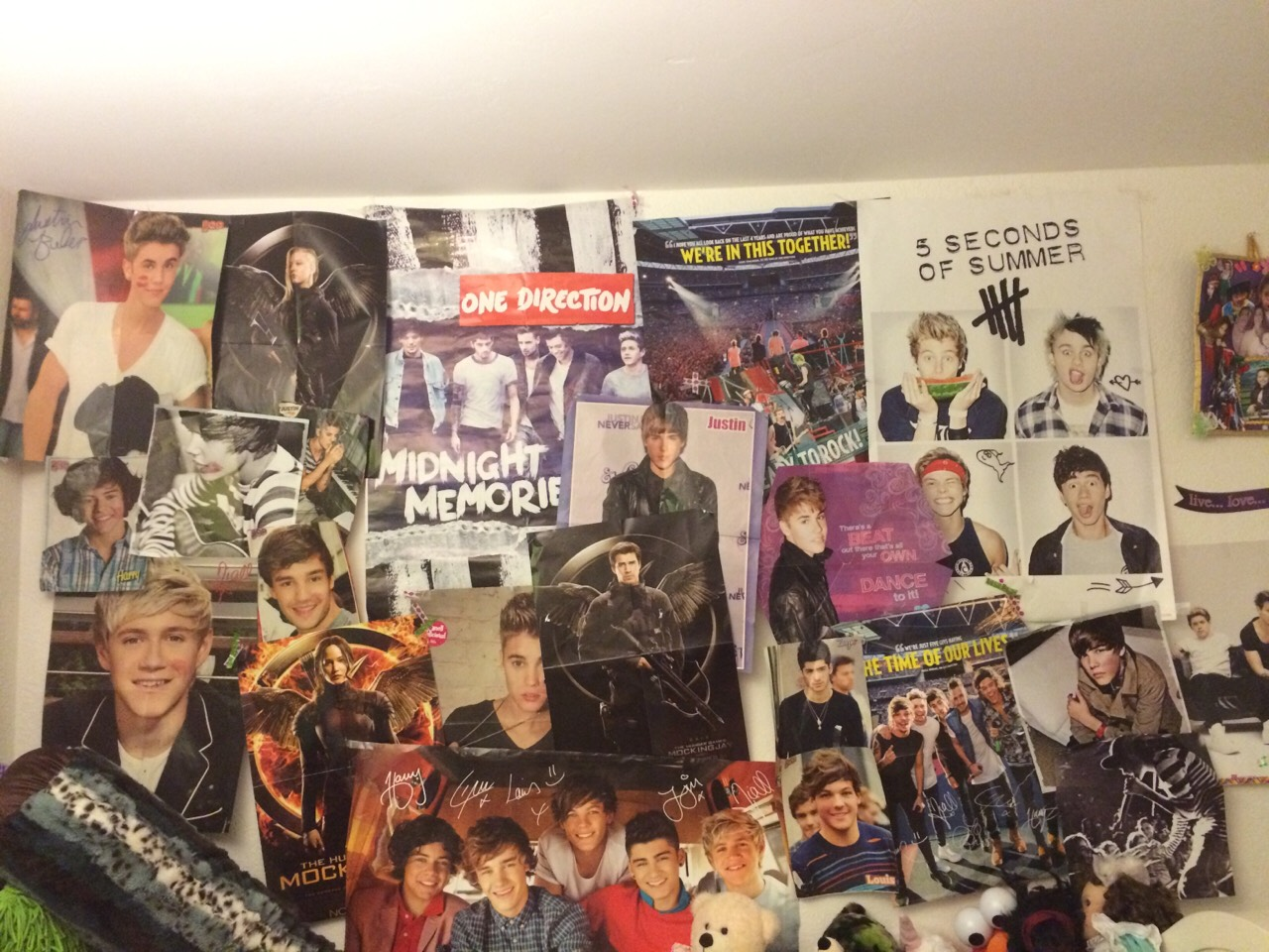 posters and pictures look awesome and i looks cool to fill a whole wall with posters and pictures.