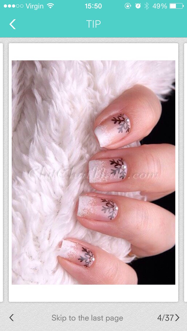 Perfect for Christmas, if you are wearing acrylic nails, they won't look to bad if they're going to grow out.